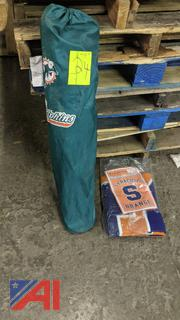 Miami Dolphin Fold-up Chair & Syracuse Orange Blanket