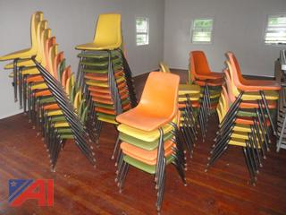 Multi Color Plastic Student Chairs