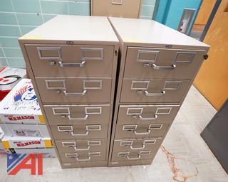 6 Drawer Tennsco Metal File Cabinets