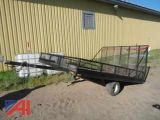 2001 Home Made Utility Trailer with Ramp