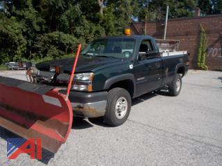 2003 Chevy Silverado 2500HD Pickup Truck with Plow and Liftgate