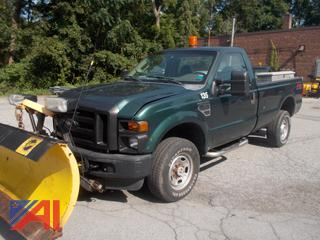 2010 Ford F350 XL Super Duty Pickup Truck with Plow and Liftgate