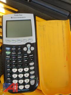 Texas Instrument TI 84 Plus Calculators in Cases