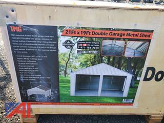 21' x 19' Double Garage Metal Shed