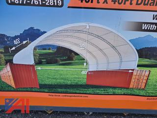 40' x 40' Dual Truss Container Shelter