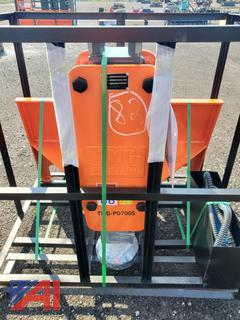 Skid Steer Mounted Hydraulic Post Driver