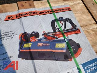 """60"""" 3-Point Offset Bank/Ditch Flail Mower"""