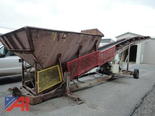 40' Elevated Conveyor with Cylinder