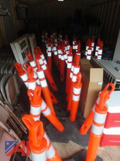Orange Safety Markers
