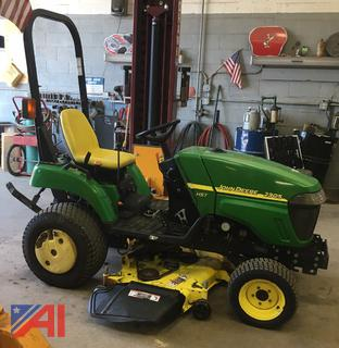 2010 John Deere 2305 Tractor with Heated Cab, Mower Deck & Snow Blower