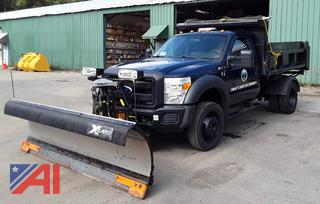 2011 Ford F450 Super Duty Dump Truck with Plow