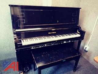 Black Mason & Hamlin Upright Piano with Bench