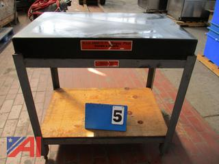 Granite Surface Plate on Steel Stand
