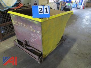 2-Yard Steel Dump Hopper
