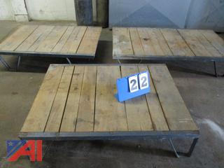 Steel Bound Oak Dunnage Racks