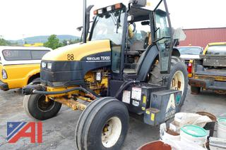 (#10) New Holland TS100 Tractor with Brush Hog Attachment
