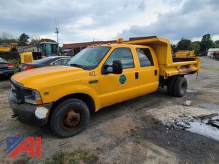 (#2) 2004 Ford F350 Super Duty 1 Ton Crew Cab Dump Truck