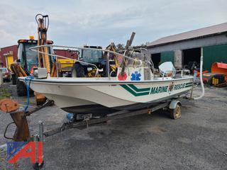 Boston Whaler 17' Boat & Trailer