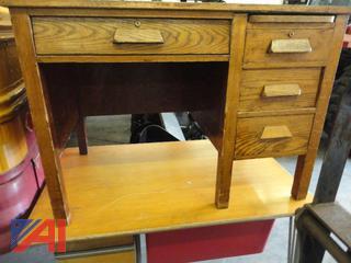 Oak Grained and Older Desk