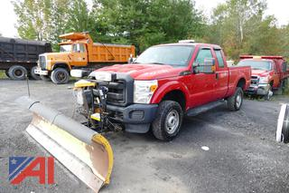 2015 Ford F250 XLT Super Duty Extended Cab Pickup Truck with Plow
