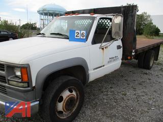 2001 Chevy Silverado 3500 Flatbed Truck