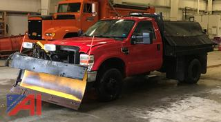 2009 Ford F350 XL Super Duty Sander Truck with Plow and Sander