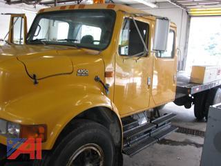 1997 International 4700 Crew Cab Flatbed Truck