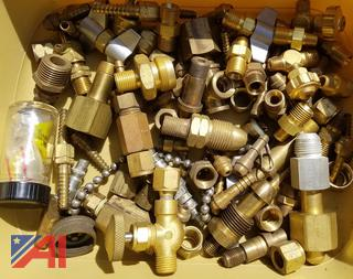 Assorted Brass Fittings, Springs, Aircraft Spark Plugs, New/Old Stock