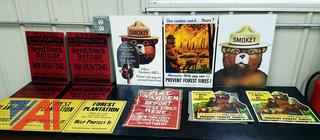 Vintage Collectible Smokey The Bear Poster Advertisements