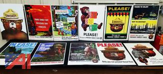 Vintage Collectible Smokey The Bear Cardboard Poster Advertisements