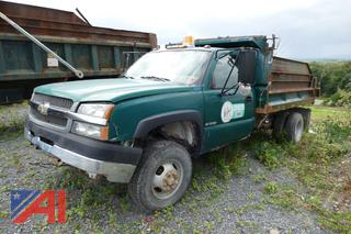 (#591) 2004 Chevy Silverado 3500 Dump Truck