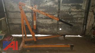 Hydraulic Engine Hoist Puller and 3-ton Dayton Arbor Press