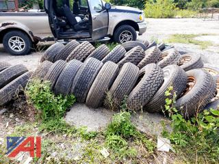 Assorted Tires on Rimes for Truck and Car