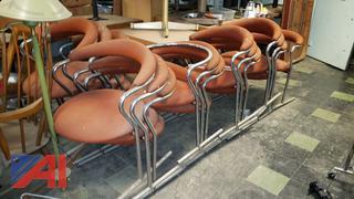 Orange Stackable Restaurant Chairs