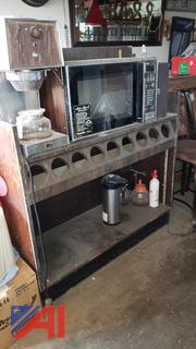Stainless Steel Sink, Coffee Cart and 2 Stainless Steel Sinks