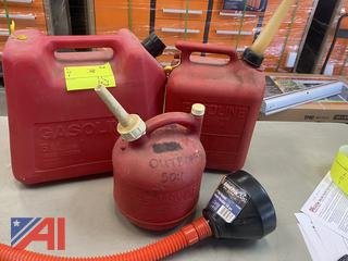 Gasoline Cans & Funnel