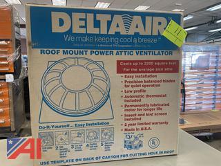 Delta Air Roof Mount Power Attic Ventilator