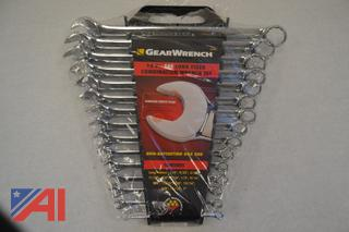 (#10) Gearwrench SAE Combo Long Fixed Wrenches, New/Old Stock