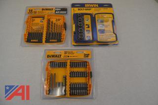 (#8) Dewalt & Irwin Drill Sets/Bolt Remover New/Old Stock