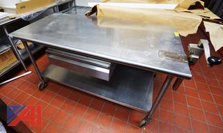 5' S/S Prep Table with Can Opener