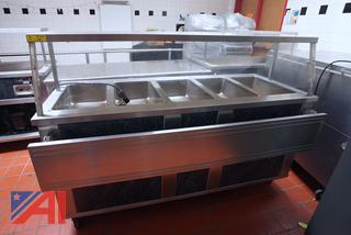 """Seco 74"""" Electric 5 Bay Heated Serving Counter"""