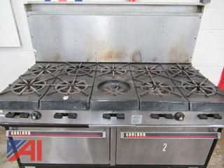 Garland Natural Gas 10 Burner Range /Standard Oven