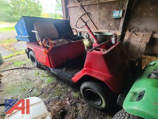 (#3) Yamaha Golf Cart with Homemade Box on Back