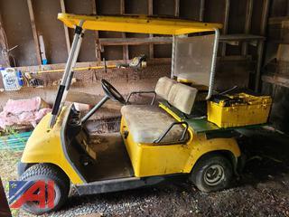 (#4) Yamaha Golf Cart with Roof Top