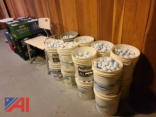 Buckets and Crates ofGolf Balls-Excellent Condition