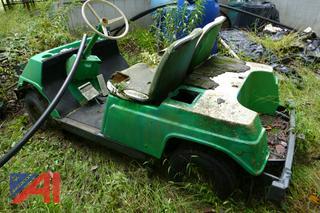 (#12) Yamaha Golf Cart with Golf Ball Range Picker