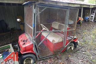 (#10) Yamaha Golf Cart with Surrounding Cage