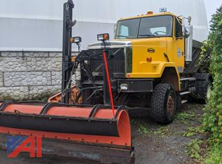 1999 Volvo ACL428 Dump Truck with Plow, Wing & Sander