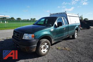 2007 Ford F150 XL Pickup Truck with Utility Cap/H-13