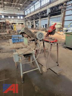 "Milwaukee 12"" Chop Saw with Cart & Brilliant Cut Off Saw"